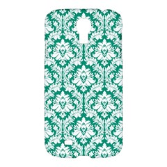 White On Emerald Green Damask Samsung Galaxy S4 I9500/I9505 Hardshell Case