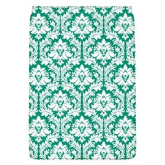 White On Emerald Green Damask Removable Flap Cover (Large)