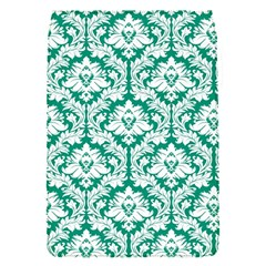 White On Emerald Green Damask Removable Flap Cover (small)