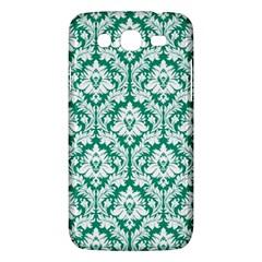 White On Emerald Green Damask Samsung Galaxy Mega 5.8 I9152 Hardshell Case