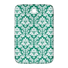 White On Emerald Green Damask Samsung Galaxy Note 8.0 N5100 Hardshell Case