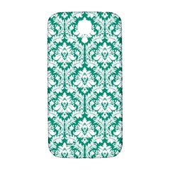 White On Emerald Green Damask Samsung Galaxy S4 I9500/i9505  Hardshell Back Case