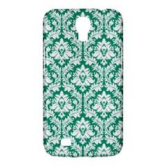 White On Emerald Green Damask Samsung Galaxy Mega 6 3  I9200 Hardshell Case