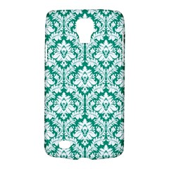 White On Emerald Green Damask Samsung Galaxy S4 Active (I9295) Hardshell Case