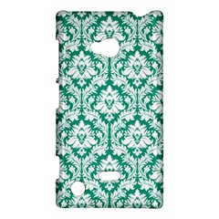 White On Emerald Green Damask Nokia Lumia 720 Hardshell Case