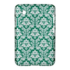 White On Emerald Green Damask Samsung Galaxy Tab 2 (7 ) P3100 Hardshell Case