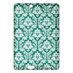 White On Emerald Green Damask Kindle Fire HD 7  (2nd Gen) Hardshell Case