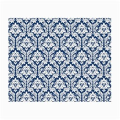 White On Blue Damask Glasses Cloth (Small)