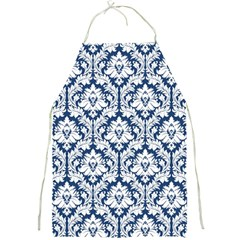 Navy Blue Damask Pattern Full Print Apron