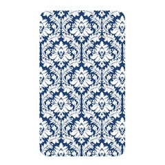 White On Blue Damask Memory Card Reader (Rectangular)