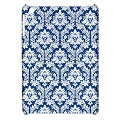 White On Blue Damask Apple Ipad Mini Hardshell Case
