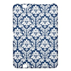 White On Blue Damask Kindle Fire HD 8.9  Hardshell Case