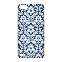 White On Blue Damask Apple iPod Touch 5 Hardshell Case with Stand