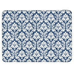White On Blue Damask Samsung Galaxy Tab 7  P1000 Flip Case