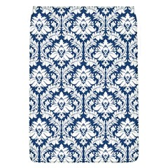 White On Blue Damask Removable Flap Cover (Large)