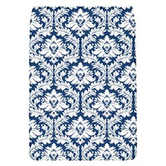 White On Blue Damask Removable Flap Cover (small)