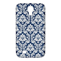 White On Blue Damask Samsung Galaxy Mega 6.3  I9200 Hardshell Case