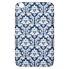 White On Blue Damask Samsung Galaxy Tab 3 (8 ) T3100 Hardshell Case