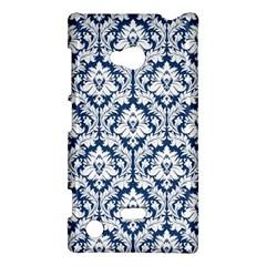 White On Blue Damask Nokia Lumia 720 Hardshell Case