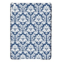 White On Blue Damask Apple iPad Air Hardshell Case