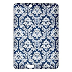 White On Blue Damask Kindle Fire HD 7  (2nd Gen) Hardshell Case