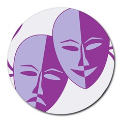 Comedy & Tragedy Of Chronic Pain 8  Mouse Pad (Round)