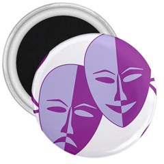Comedy & Tragedy Of Chronic Pain 3  Button Magnet