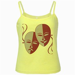 Comedy & Tragedy Of Chronic Pain Yellow Spaghetti Tank