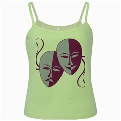 Comedy & Tragedy Of Chronic Pain Green Spaghetti Tank