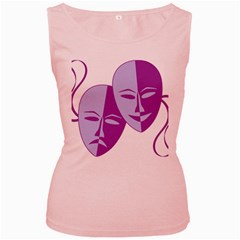 Comedy & Tragedy Of Chronic Pain Women s Tank Top (Pink)