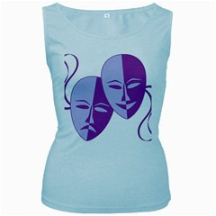 Comedy & Tragedy Of Chronic Pain Women s Tank Top (Baby Blue)