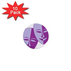 Comedy & Tragedy Of Chronic Pain 1  Mini Button (10 pack)
