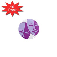 Comedy & Tragedy Of Chronic Pain 1  Mini Button Magnet (10 pack)