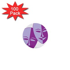 Comedy & Tragedy Of Chronic Pain 1  Mini Button (100 pack)