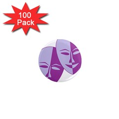 Comedy & Tragedy Of Chronic Pain 1  Mini Button Magnet (100 pack)