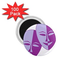Comedy & Tragedy Of Chronic Pain 1.75  Button Magnet (100 pack)