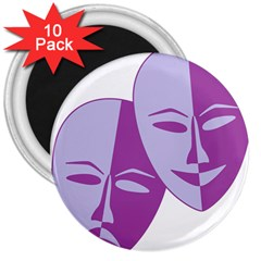 Comedy & Tragedy Of Chronic Pain 3  Button Magnet (10 pack)