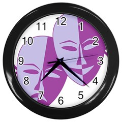Comedy & Tragedy Of Chronic Pain Wall Clock (Black)