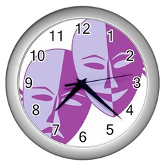Comedy & Tragedy Of Chronic Pain Wall Clock (Silver)