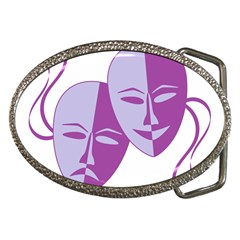 Comedy & Tragedy Of Chronic Pain Belt Buckle (Oval)