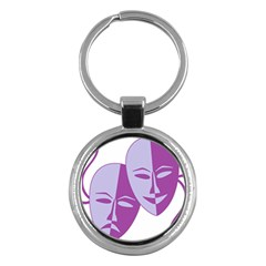 Comedy & Tragedy Of Chronic Pain Key Chain (Round)