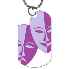 Comedy & Tragedy Of Chronic Pain Dog Tag (Two-sided)