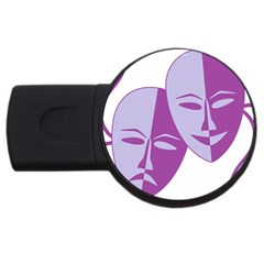 Comedy & Tragedy Of Chronic Pain 2gb Usb Flash Drive (round)
