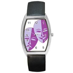 Comedy & Tragedy Of Chronic Pain Tonneau Leather Watch