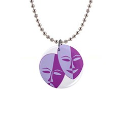 Comedy & Tragedy Of Chronic Pain Button Necklace