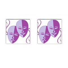 Comedy & Tragedy Of Chronic Pain Cufflinks (square)