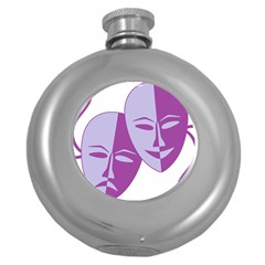Comedy & Tragedy Of Chronic Pain Hip Flask (Round)