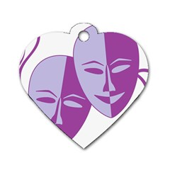 Comedy & Tragedy Of Chronic Pain Dog Tag Heart (Two Sided)