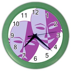 Comedy & Tragedy Of Chronic Pain Wall Clock (color)