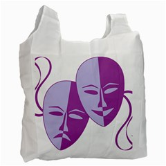 Comedy & Tragedy Of Chronic Pain White Reusable Bag (One Side)
